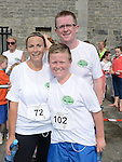 Padraig and Seb Lennon and Louise Hanrahan who took part in the Duleek 10K run. Photo:Colin Bell/pressphotos.ie