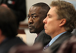 Nevada Assemblyman Tyrone Thompson, D-North Las Vegas, works in committee at the Legislative Building in Carson City, Nev., on Friday, March 13, 2015. <br /> Photo by Cathleen Allison