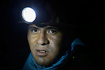 A miner inside a mine in Potosi, Bolivia. The mine produces silver and other metals.