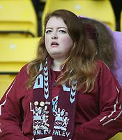 Burnley fans<br /> <br /> Photographer Rob Newell/CameraSport<br /> <br /> The Premier League - Watford v Burnley - Saturday 23rd November 2019 - Vicarage Road - Watford <br /> <br /> World Copyright © 2019 CameraSport. All rights reserved. 43 Linden Ave. Countesthorpe. Leicester. England. LE8 5PG - Tel: +44 (0) 116 277 4147 - admin@camerasport.com - www.camerasport.com