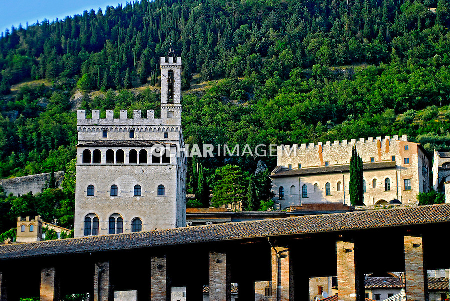 Palacio dei Consoli em Gubbio. Umbria. Itália. 2006. Foto de  Luciana Whitaker.