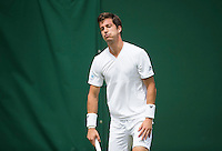 ALJAZ BEDENE (GBR)<br /> <br /> TENNIS - THE CHAMPIONSHIPS - WIMBLEDON - ATP - WTA - ITF - GRAND SLAM - CHAMPIONSHIPS - LONDON - GREAT  BRITAIN - 2016  <br /> <br /> <br /> <br /> &copy; TENNIS PHOTO NETWORK