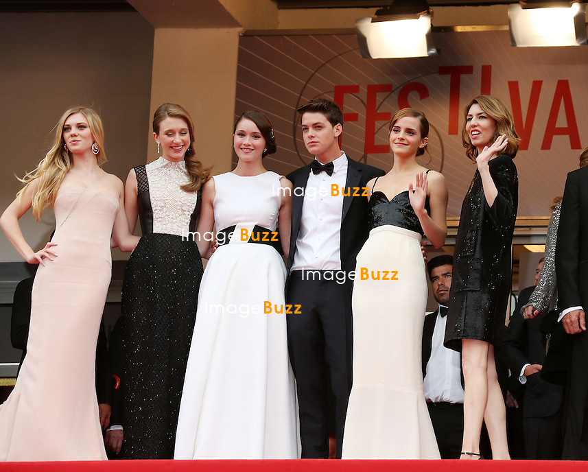 CPE/Cast of 'The Bling Ring' attend premiere during The 66th Annual Cannes Film Festival at the Palais des Festivals on May 16, 2013 in Cannes, France. .Pictured : Katie Chang, Taissa Fariga, Israel Broussard, Sofia Coppola, Claire Julien and Emma Watson
