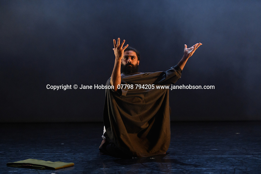 """London, UK. 24.02.2017. Salah el Brogy Company presents """"Letting Go"""", choreographed, and danced, by Salah el Brogy, as part of the Resolution! festival, 2017, at The Place. Photograph © Jane Hobson."""