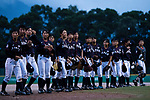 Japan Women's Baseball Team during the BFA Women's Baseball Asian Cup match between Pakistan and Japan at Sai Tso Wan Recreation Ground on September 4, 2017 in Hong Kong. Photo by Marcio Rodrigo Machado / Power Sport Images