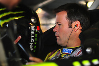 Sept. 27, 2008; Kansas City, KS, USA; Nascar Sprint Cup Series driver Robby Gordon during practice for the Camping World RV 400 at Kansas Speedway. Mandatory Credit: Mark J. Rebilas-