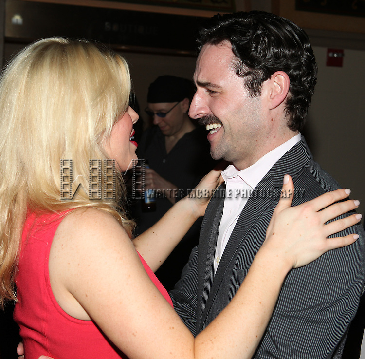 Megan Hilty & Max von Essen.attending the reception for the final performance of the New York City Center ENCORES! Production of 'Gentlemen Prefers Blondes' at City Center in New York City on 5/13/2012.