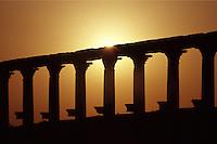SIRIA - sito di Palmira(Tadmor)   colonnato al tramonto