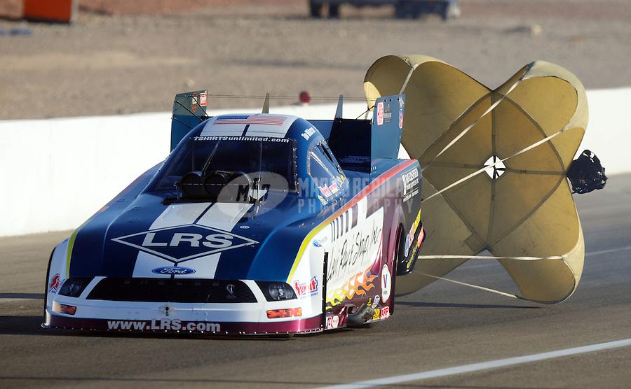 Apr. 4, 2009; Las Vegas, NV, USA: NHRA funny car driver Tim Wilkerson during qualifying for the Summitracing.com Nationals at The Strip in Las Vegas. Mandatory Credit: Mark J. Rebilas-