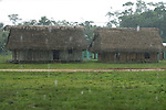 January rain on two room school in traditional Mayan village in southern Belize.  It rains 150 inches per year.
