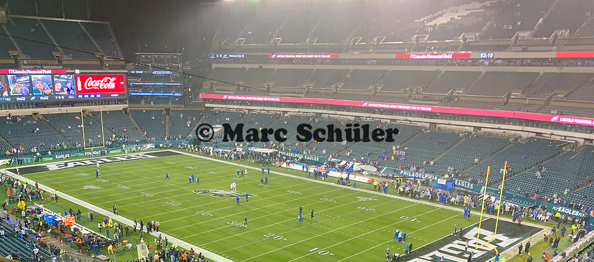 Innenraum des Lincoln Financial Field - 09.12.2019: Philadelphia Eagles vs. New York Giants, Monday Night Football, Lincoln Financial Field