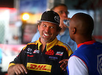 Jul. 26, 2014; Sonoma, CA, USA; NHRA funny car driver Del Worsham during qualifying for the Sonoma Nationals at Sonoma Raceway. Mandatory Credit: Mark J. Rebilas-