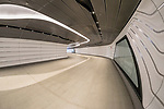 The Wynyard Walk is an 180-metre tunnel connecting Wynyard station and Sydney's CBD to the Barangaroo waterfront.