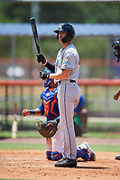 GCL Marlins pinch hitter Connor Grant (44) at bat during a game against the GCL Mets on August 3, 2018 at St. Lucie Sports Complex in Port St. Lucie, Florida.  GCL Mets defeated GCL Marlins 3-2.  (Mike Janes/Four Seam Images)