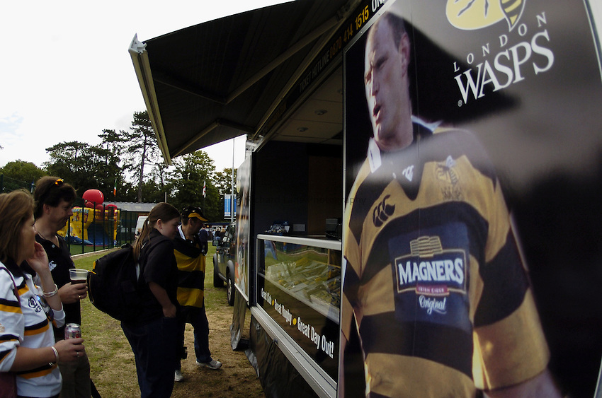 Photo: Jonathan Butler..Wasps A v Blackheath. Pre Season Friendly. 20/08/2006..London Wasps Mobile Shop.