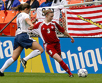 Canada's Melanie Booth, USWNT vs Canada April 26, 2003.