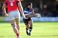 Ben Tapuai of Bath Rugby  in possession. Aviva Premiership match, between Bath Rugby and Saracens on December 3, 2016 at the Recreation Ground in Bath, England. Photo by: Patrick Khachfe / Onside Images
