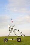American flag, Farm, wheat field, Irrigation system, Columbia Basin, Eastern Washington State, U.S.A.,