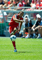 10 July 2010: Toronto FC forward Dwayne De Rosario #14 in action during a game between the Colorado Rapids and Toronto FC at BMO Field in Toronto..Toronto FC won 1-0.