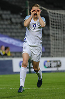 Ellen White celebrates after she scores the opening goal of the game during the Women's Friendly match between England Women and Austria Women at stadium:mk, Milton Keynes, England on 10 April 2017. Photo by PRiME Media Images / David Horn.
