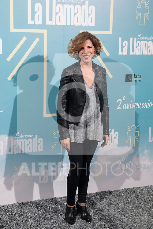 Soledad Gimenez attends La Llamada theater play in Madrid, Spain. April 15, 2015. (ALTERPHOTOS/Victor Blanco)