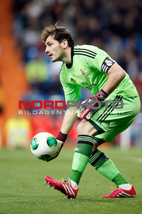 Real Madrid¬¥s Iker Casillas during a Spain King Cup soccer match between Real Madrid and Osasuna at Santiago Bernabeu Stadium in Madrid, Spain. January 09, 2014. Foto © nph / Caro Marin)