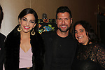 Ana Villafane & Mauricio Martinez (stars of On Your Feet) with Gina at 30th Anniversary of the Jane Elissa Extravaganza to benefit The Jane Elissa Charitable Fund for Leukemia & Lymphoma Cancer, Broadway Cares & other charities on October 30. 2017 at the New York Marriott Marquis, New York, New York. (Photo by Sue Coflin/Max Photo)