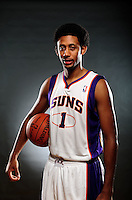 Dec. 16, 2011; Phoenix, AZ, USA; Phoenix Suns guard Josh Childress poses for a portrait during media day at the US Airways Center. Mandatory Credit: Mark J. Rebilas-