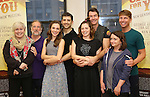 Nancy Opel, Mark Linn-Baker, Laurra Osnes, Tony Yazbeck, Jerry O'Connell, Rachel Bloom, Rachel Dratch and Jack McBrayer during the Press Rehearsal for the Manhattan Concert Production of 'Crazy For You'  at Pearl Studios on 2/16/2017 in New York City.