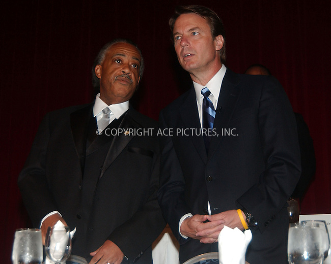 WWW.ACEPIXS.COM . . . . .....April 18 2007, New York City....Reverend Al Sharpton  and John Edwards at the Ninth Annual National Action Network Convention in Manhattan.  ....Please byline: Kristin Callahan - ACEPIXS.COM..... *** ***..Ace Pictures, Inc:  ..Philip Vaughan (646) 769 0430..e-mail: info@acepixs.com..web: http://www.acepixs.com
