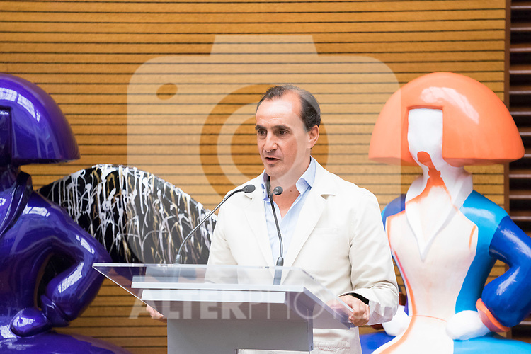 President of Acotex, Eduardo Zamacola, during the presentation of 'Meninas Madrid Gallery' at Madrid town hall. October 01, 2019. (ALTERPHOTOS/Francis Gonzalez)