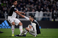Sami Khedira helps Cristiano Ronaldo of Juventus <br /> Torino 19/10/2019 Allianz Stadium <br /> Football Serie A 2019/2020 <br /> Juventus FC - Bologna <br /> Photo Federico Tardito / Insidefoto