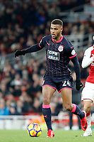 Steve Mounié of Huddersfield Town in action during the Premier League match between Arsenal and Huddersfield Town at the Emirates Stadium, London, England on 29 November 2017. Photo by Carlton Myrie / PRiME Media Images.