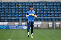 Chelsea Loanee Goalkeeper Jamal Blackman of Wycombe Wanderers warms up during the Sky Bet League 2 match between Wycombe Wanderers and Accrington Stanley at Adams Park, High Wycombe, England on 16 August 2016. Photo by Kevin Prescod.