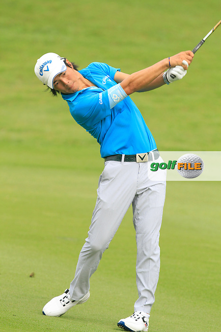 Ryo Ishikawa (JPN) on the 5th during Round 3 of the CIMB Classic in the Kuala Lumpur Golf &amp; Country Club on Saturday 1st November 2014.<br /> Picture:  Thos Caffrey / www.golffile.ie