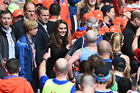 Catherine, Duchess of Cambridge at the finish line on The Mall at the 2017 London Marathon, London, UK. <br /> 23 April  2017<br /> Picture: Steve Vas/Featureflash/SilverHub 0208 004 5359 sales@silverhubmedia.com