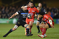 Francois Louw of Bath Rugby in possession. European Rugby Champions Cup match, between Bath Rugby and RC Toulon on December 16, 2017 at the Recreation Ground in Bath, England. Photo by: Patrick Khachfe / Onside Images