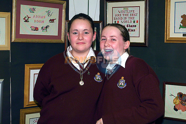 Edel Kauanagh and Stacey Dunlevy at The St Oliver's Open Night...Pic Tony Campbell Newsfile
