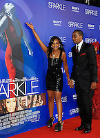 Hollywood, August 16, 2012: Bobbi Kristina Brown and Nick Gordon are happy to be on the red carpet at The Premiere of Sparkle at Graumans Chinese Theatre in Hollywood California. /NOrtePHOTO.COM<br />