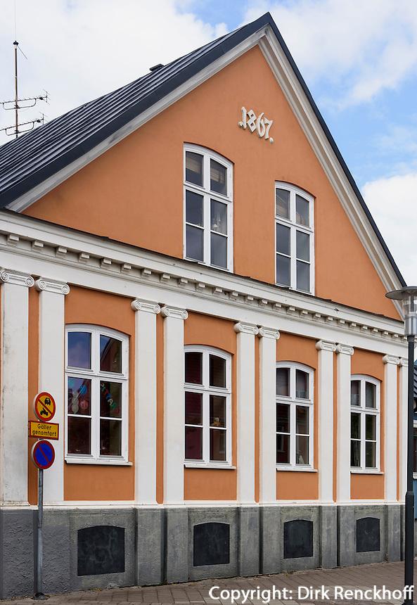 H&auml;user im Sk&aring;ne-Stil am Gamla Torg, Trelleborg, Provinz Sk&aring;ne (Schonen), Schweden, Europa<br /> House  im Sk&aring;ne-Stil at Gamla Torg in Trelleborg, Sweden