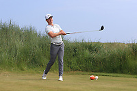 Rowan Lester (Hermitage) on the 3rd tee during Round 4 of the East of Ireland Amateur Open Championship 2018 at Co. Louth Golf Club, Baltray, Co. Louth on Monday 4th June 2018.<br /> Picture:  Thos Caffrey / Golffile<br /> <br /> All photo usage must carry mandatory copyright credit (&copy; Golffile | Thos Caffrey)