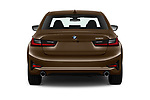 Straight rear view of 2019 BMW 3-Series-Sedan 330i-Sport-Line 4 Door Sedan Rear View  stock images