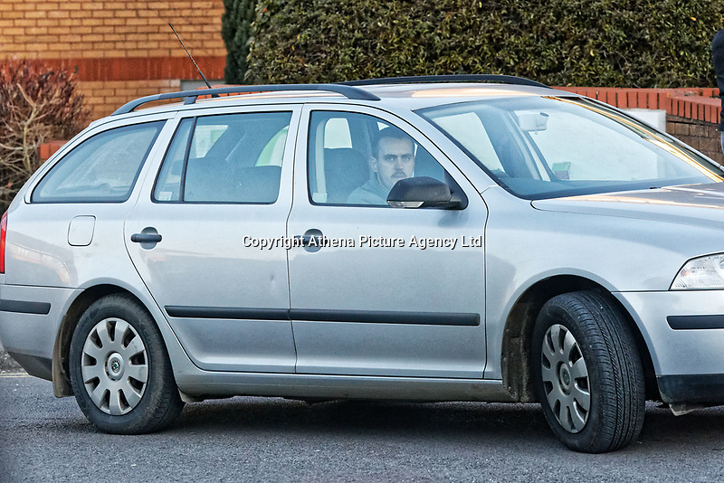 Kyle John, aprisoner of HMP Prescoed drives a Skoda Fabia to drop off a person to the Holiday Inn Hotel in Coryton near Cardiff, south Wales, UK. Monday 26 February 2018