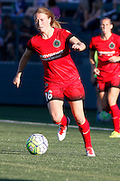 Rochester, NY - Friday June 17, 2016: Portland Thorns FC defender Emily Sonnett (16) during a regular season National Women's Soccer League (NWSL) match between the Western New York Flash and the Portland Thorns FC at Rochester Rhinos Stadium.