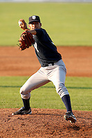 August 16, 2009:  Pitcher Ronny Marte of the Staten Island Yankees delivers a pitch during a game at Dwyer Stadium in Batavia, NY.  Staten Island is the Short-Season Class-A affiliate of the New York Yankees.  Photo By Mike Janes/Four Seam Images
