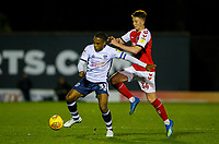 Bury's Neil Danns vies for possession with Fleetwood Town's Gerard Garner<br /> <br /> Photographer Alex Dodd/CameraSport<br /> <br /> The EFL Checkatrade Trophy Group B - Bury v Fleetwood Town - Tuesday 13th November 2018 - Gigg Lane - Bury<br />  <br /> World Copyright &copy; 2018 CameraSport. All rights reserved. 43 Linden Ave. Countesthorpe. Leicester. England. LE8 5PG - Tel: +44 (0) 116 277 4147 - admin@camerasport.com - www.camerasport.com