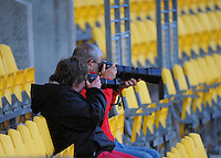 Fans photograph the action on day one of the 2016 HSBC Wellington Sevens at Westpac Stadium, Wellington, New Zealand on Saturday, 30 January 2016. Photo: Dave Lintott / lintottphoto.co.nz