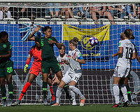 GRENOBLE, FRANCE - JUNE 22: Alexandra Popp #11 of the German National Team corner kick, header score during a game between Nigeria and Germany at Stade des Alpes on June 22, 2019 in Grenoble, France.