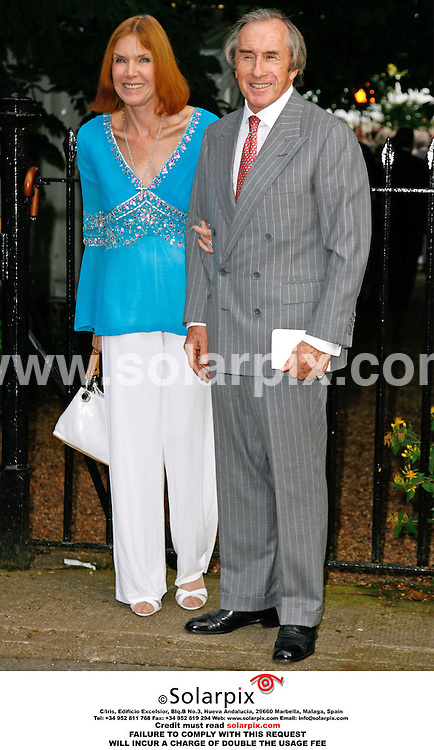 ALL ROUND PICTURES FROM SOLARPIX.COM. .Jackie Stewart and wife arrive for the David Frost Summer party in Carlyle Square, London on 05.07.06. Job Ref: 2548/SFE..MUST CREDIT SOLARPIX.COM OR DOUBLE FEE WILL BE CHARGED..