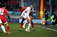 Bradford's James Vaughan & Marvin Ekpiteta  during Leyton Orient vs Bradford City, Sky Bet EFL League 2 Football at The Breyer Group Stadium on 14th December 2019